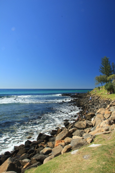 This was taken while we were walking towards the Burleigh Heads National Park