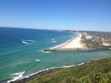View from the look out at Burleigh Heads National Park - bloody stunning day!