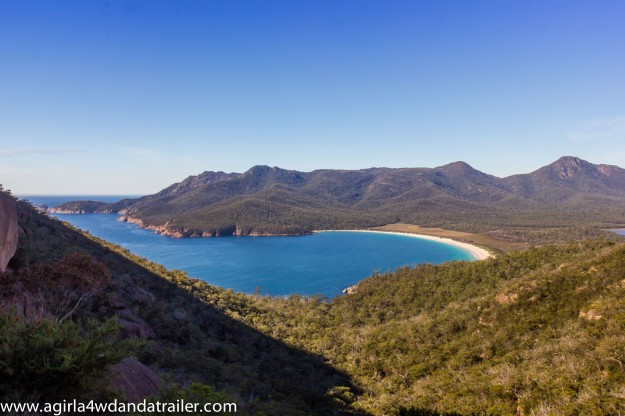 View of Wineglass Bay from the lookout