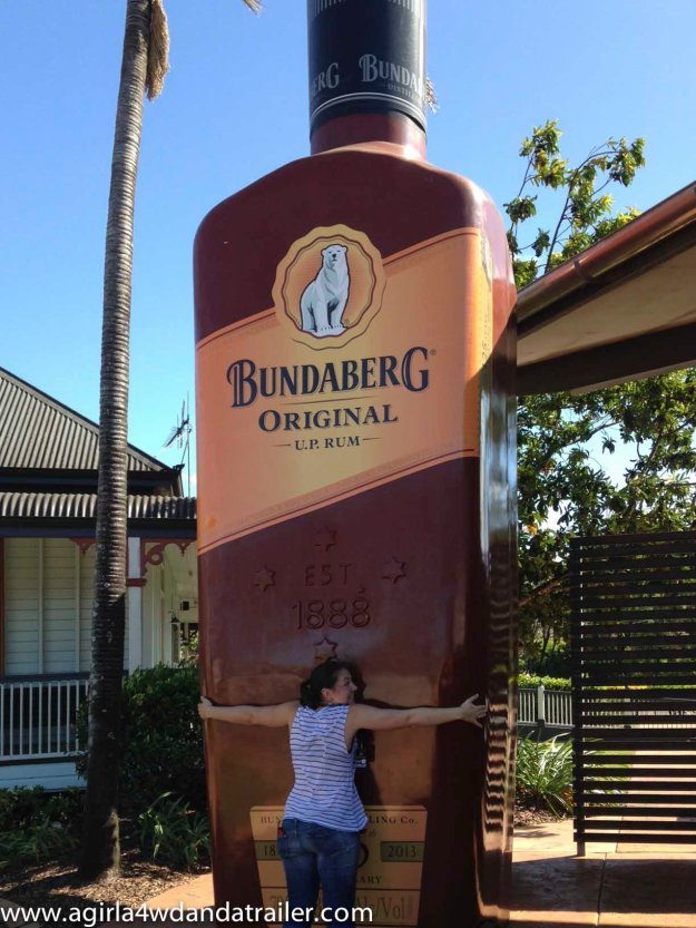 Me with the giant bottle of Bundy Rum
