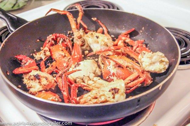 Bundaberg Mud Crab, in the fry pan