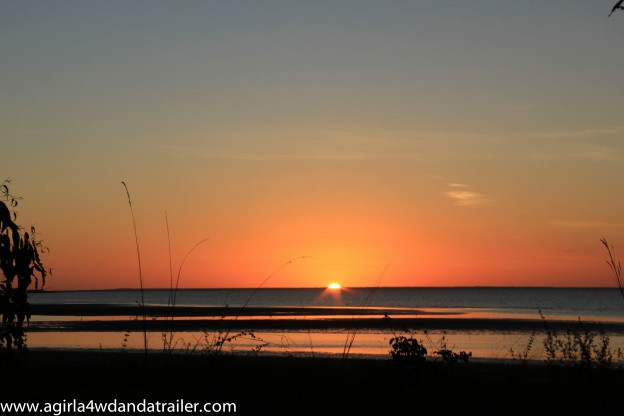 Weipa sunset was brilliant. The colours on this haven't been altered by any enhancing software, this is the actual sky.
